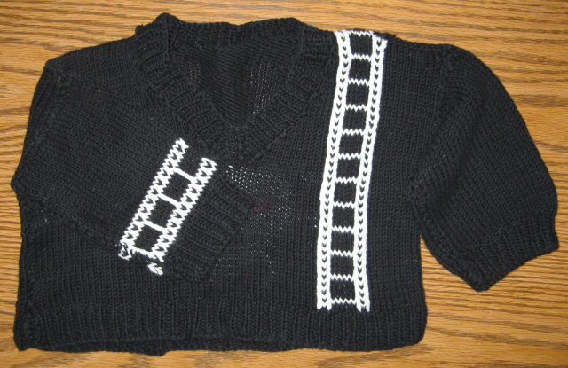 Black Production Baby Sweater
