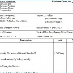 What's It Good For? The P.O. (Purchase Order)